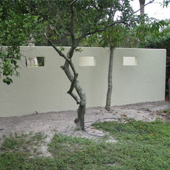 Newly Built Wall